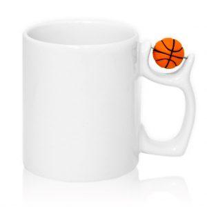 Кружка с мячом на ручке баскетбол