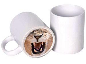 Кружка с тигром на дне